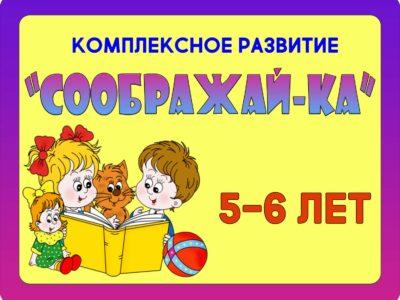 """""""СООБРАЖАЙ-КА""""5-6лет"""